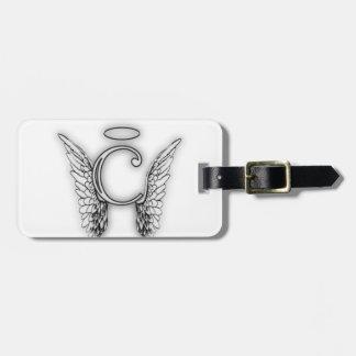 Etiqueta Para Maletas Este último inicial del alfabeto C del ángel se va