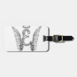 Etiqueta Para Maletas Este último inicial del alfabeto E del ángel se va