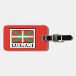 Etiqueta Para Maletas Euskadi