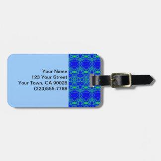 Etiqueta Para Maletas Extracto brillante del cordón del verde azul