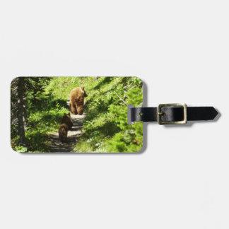Etiqueta Para Maletas Familia del oso de Brown