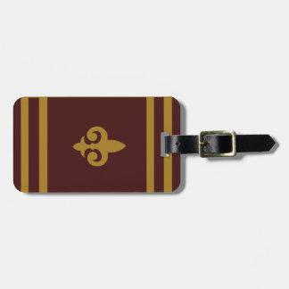 Etiqueta Para Maletas Flor de lis del oro personalizada