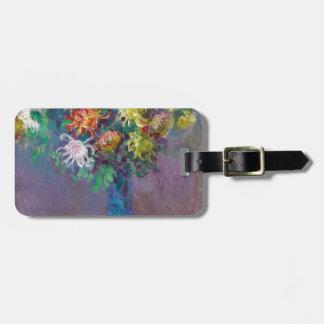 Etiqueta Para Maletas Florero de los crisantemos Claude Monet