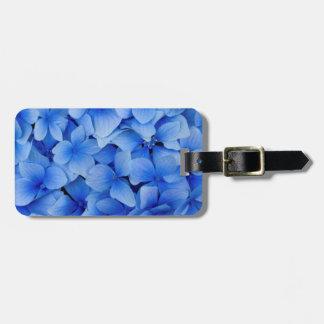 Etiqueta Para Maletas Flores azules del Hydrangea