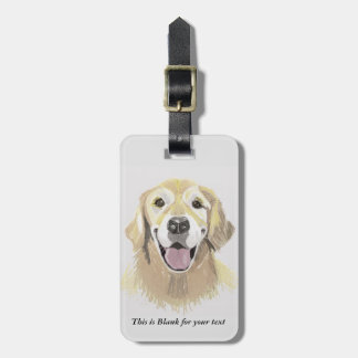 Etiqueta Para Maletas Golden retriever