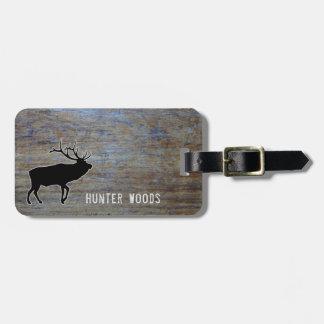 Etiqueta Para Maletas Grano de madera rústico personalizado de los alces