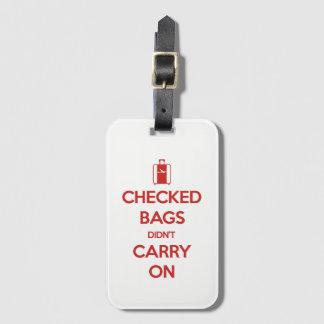 Etiqueta Para Maletas Guarde la calma comprobó bolsos no continuó