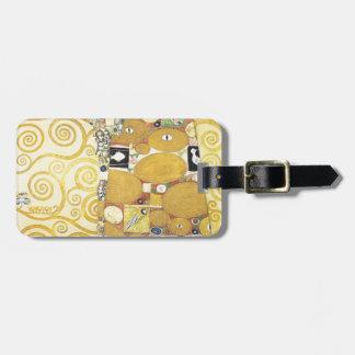 Etiqueta Para Maletas Gustavo Klimt - el abrazo - ilustraciones clásicas