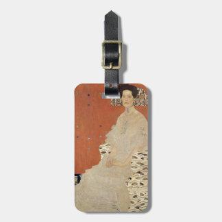 Etiqueta Para Maletas GUSTAVO KLIMT - Retrato de Fritza Riedler 1906