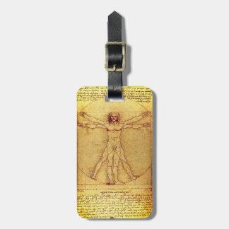 Etiqueta Para Maletas Hombre de Vitruvian de Leonardo da Vinci