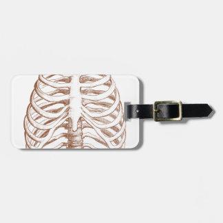 Etiqueta Para Maletas huesos humanos