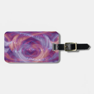 Etiqueta Para Maletas Humo de la púrpura de Ho'oponopono