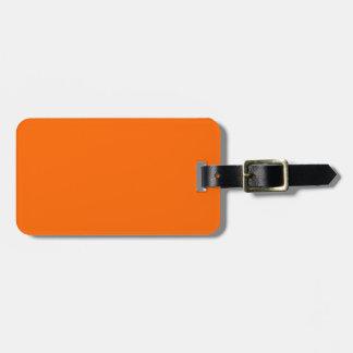 Etiqueta Para Maletas Identificación fácil anaranjada del resplandor de