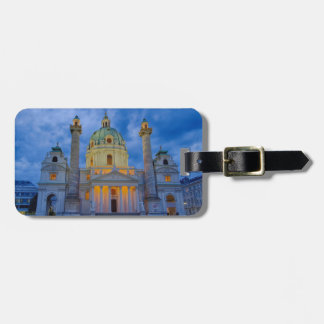 Etiqueta Para Maletas Iglesia San Carlos, Viena