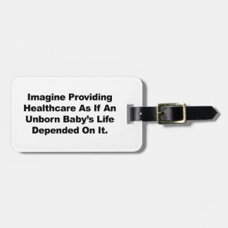 Etiqueta Para Maletas Imagínese el proporcionar de la atención sanitaria