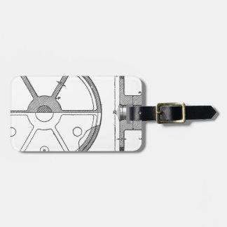 Etiqueta Para Maletas Impresión mecánica industrial de las Ephemeras de