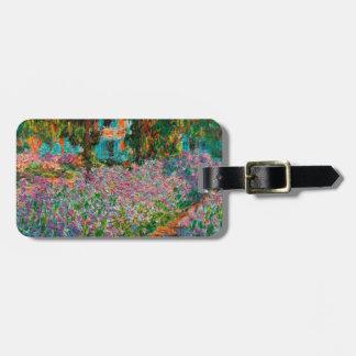 Etiqueta Para Maletas Iris en el jardín de Monets en Giverny de Claude