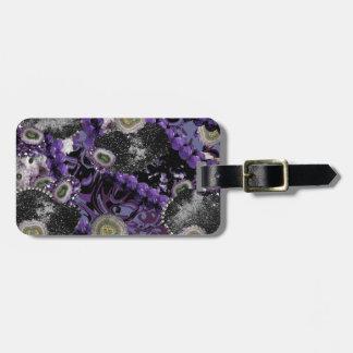 Etiqueta Para Maletas Jeweled en púrpura