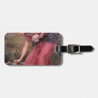 Etiqueta Para Maletas John William Waterhouse - narciso - bella arte
