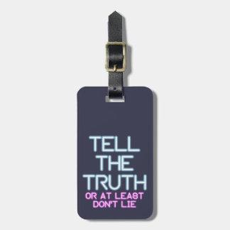 Etiqueta Para Maletas Jordania Peterson: Diga la verdad…