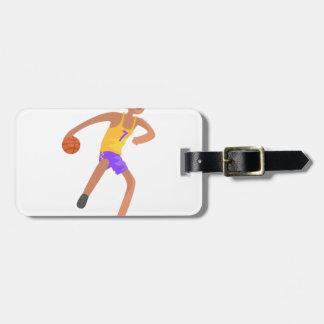 Etiqueta Para Maletas Jugador de básquet que pasa al pegatina de la