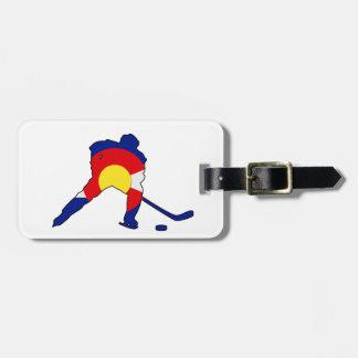Etiqueta Para Maletas Jugador de hockey de Colorado