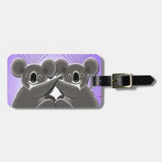Etiqueta Para Maletas koalas de la abrazo de la tarjeta del día de San