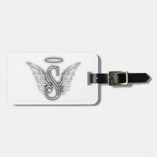 Etiqueta Para Maletas La letra inicial del alfabeto S del ángel se va