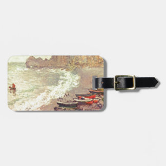 Etiqueta Para Maletas La playa en Etretat - Claude Monet