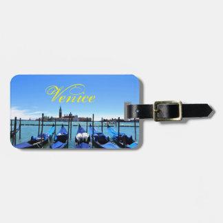 Etiqueta Para Maletas Laguna azul en Venecia, Italia
