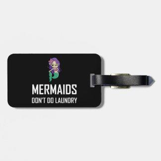 Etiqueta Para Maletas Las sirenas no hacen el lavadero