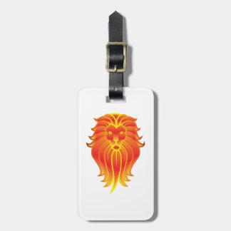 Etiqueta Para Maletas León adaptable del zodiaco de Leo del fuego