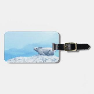 Etiqueta Para Maletas Liebres árticas, lepus arcticus, o conejo polar