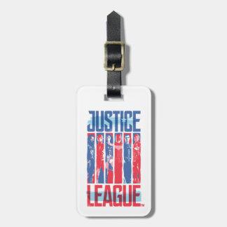 Etiqueta Para Maletas Liga de justicia arte pop azul y rojo del | del