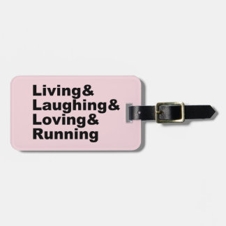 Etiqueta Para Maletas Living&Laughing&Loving&RUNNING (negro)