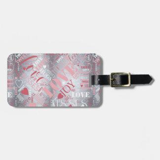 Etiqueta Para Maletas Los abrazos y los besos redactan ID286 rosado/de