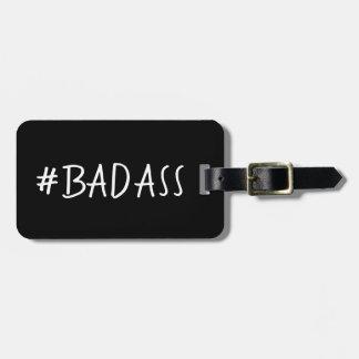ETIQUETA PARA MALETAS LUGGAGE/BAG DIVERTIDO TAG_#BADASS DIY