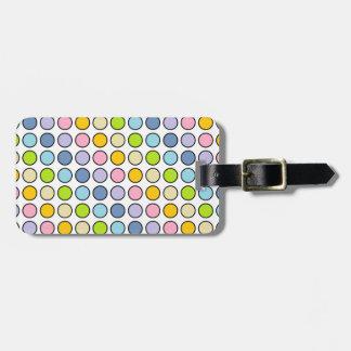 Etiqueta Para Maletas Lunares en colores pastel resumidos negro del arco