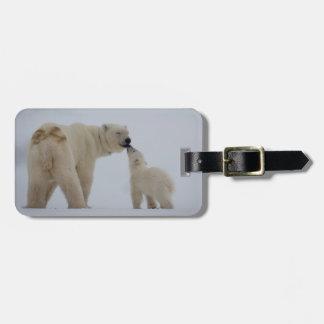 Etiqueta Para Maletas Madre del oso polar con Cub