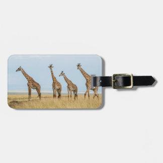 Etiqueta Para Maletas Manada de la jirafa en prado