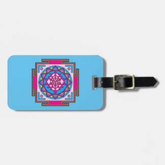 Etiqueta Para Maletas Mandala de Sri Yantra