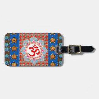 Etiqueta Para Maletas Mantra elegante de OmMANTRA: Meditación de la yoga