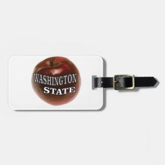 Etiqueta Para Maletas Manzana del rojo del estado de Washington