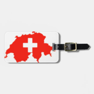 Etiqueta Para Maletas Mapa suizo de la bandera