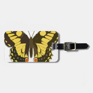 Etiqueta Para Maletas Mariposa amarilla