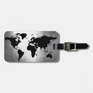 Etiqueta Para Maletas Metal del mapa del mundo