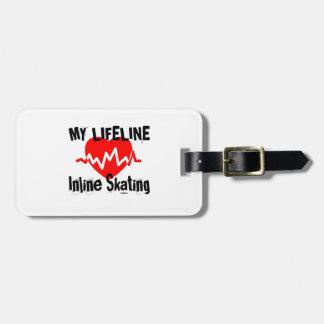 Etiqueta Para Maletas Mi línea de vida patinaje en línea se divierte