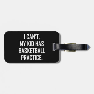 Etiqueta Para Maletas Mi niño tiene práctica del baloncesto divertida