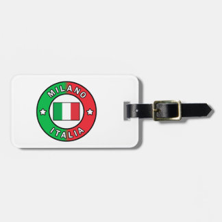 Etiqueta Para Maletas Milano Italia