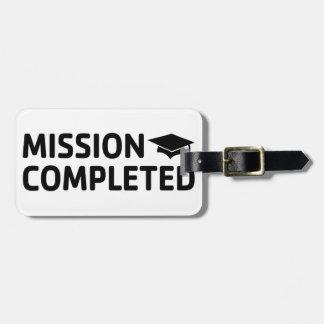 Etiqueta Para Maletas Misión terminada